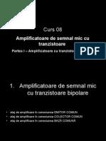 Curs 08 Amplificatoare de Semnal Mic Cu Tranzistoare Bipolare