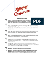 Drowsy Chaperone Timeline & Facts