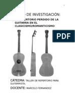 repertorio guitarra clasica