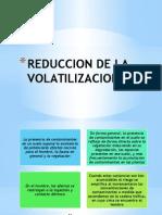 Reduccion de La Volatilizacion