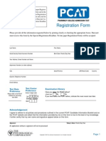 PCAT- 2008-2009 Paper Registration Form