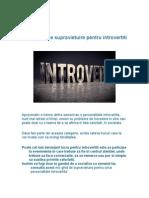 Scurt Ghid de Supravietuire Pentru Introvertiti
