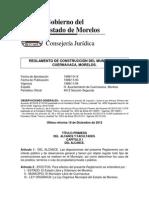 Reglamento de Construcción Del Municipio de Cuernavaca Morelos.