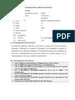 Programación Anual Historia y Geografía - 1ero de secundaria
