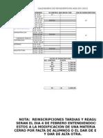 Calendario de Reincripciones Ene-jun 2015