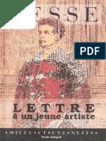 Hermann Hesse-Lettre à Un Jeune Artiste