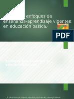 Métodos y Enfoques de Enseñanza Aprendizaje Vigentes en Educación