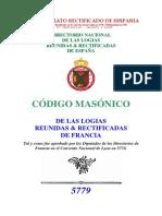 CODIGO MASONICO DE LAS LOGIAS REUNIDADS EN FRANCIA.pdf