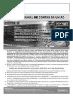 Cespe 2013 Tcu Auditor Federal de Controle Externo Prova