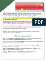 NSRF March 2015 Newsletter