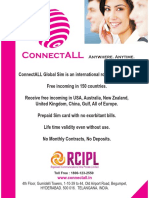 Connectall Flyer Global Roaming Sim