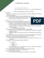 COM 100 Final Exam Study Guide