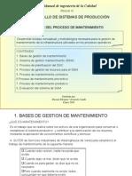 Principios Del Proceso de Mantenimiento