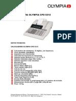 Calculadora Olympia PLMCP_CPD5212