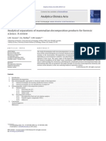 Analytical separations of mammalian decomposition products for forensic science