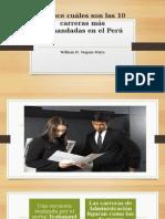 Carreras Más Demandadas en Perú