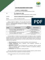 Informe No02 - Solicita Aprobación de Planes de Trabajo