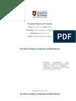 Áreas de Atuação Da Biomedicina