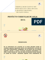 Proyecto Curricular Aula Inicial 2014