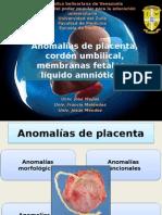 Anomalías Placenta, Cordón, Mf y Liq Amnio.