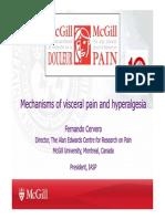 1330 Fernando Cervero - Mechanisms of Visceral Pain and Hyperalgesia