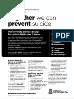 Suicide Gatekeeper Training