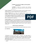 La Pesca en Colombia y Su Efecto Sobre Los Recursos Biologicos
