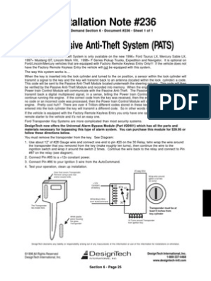 ford_pats_bypass pdf ford motor company ignition system  pats anti theft 2001 ford expedition diagram wiring #10