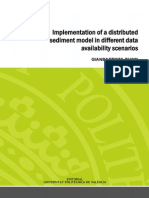 Bussi - Implementation of a Distributed Sediment Model in Different Data Availability Scenarios.