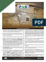 Prova Do PAS UnB 1ª Etapa de 2013. Caderno Jornal