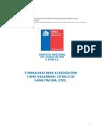 Formulario Para Acreditacioc OTEC Actualizado 2014