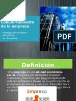 Papel de La Empresa en la Economía
