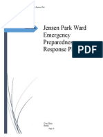 Jensen Park Ward Emergency Preparedness Response Plan