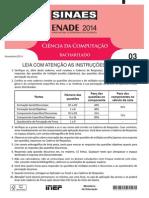 Prova ENADE Computação Bacharelado 2014