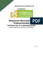 Empresas Nacionales y Trasnacionales