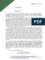 Ofício Prefeitura de Santo André - Mostra de Dança Diocesana