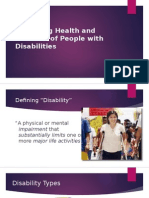 Improving Health and Wellness of People With Disabilities