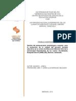 Gestión del entrenamiento metodológico conjunto  para la evaluación de la calidad del proceso docente educativo en la carrera de Educación Mención Arte de la Universidad Experimental de los Llanos Occidentales Ezequiel Zamora (UNELLEZ), Barinas