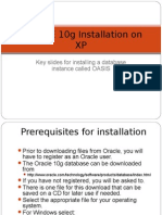 Oracle 10g Installation on Win XP