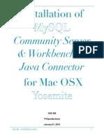 MySQL Installation on Yosemite