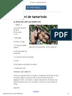 El Universal - - Mezcalini de Tamarindo