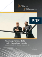 Business Productivity at Its Best - Office 2010 and SharePoint 2010 White Paper