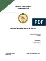 Infrme Final de Servicio Social