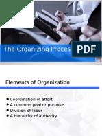 The Organizing Process and Communication