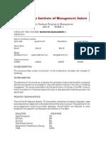 Marketing Management- I