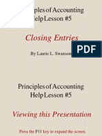 5. Closing Entries