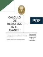 Calculo de Resistecia Al Avance de Un Carguero Con Metodo de Holtrop y Mennem
