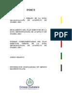 Plan Director Urbano Del a Zona Metropolitan a Acapulco