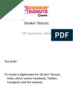 Dunkin' DonutsDigitalPlan