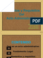 Elementos y Requisitos Del Acto Administrativo